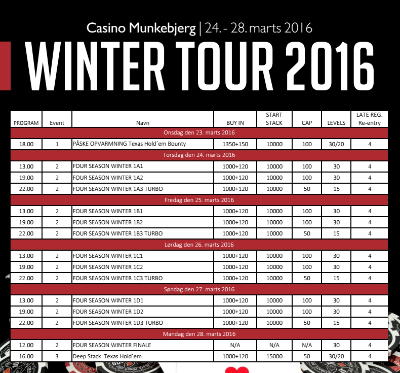Winter Tour program 2016